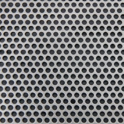 R03346 Perforated Metal Sheet: 3.25mm Round, 46% Open Area