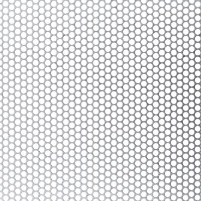 R04851 Perforated Metal Sheet: 4.8mm Round, 51% Open Area