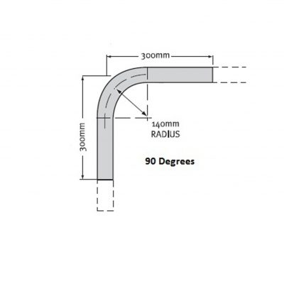 Rail Bend 32NB Medium Mild Steel